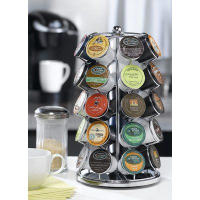 Lily's HomeTM Carousel for 35 K-Cups in Chrome - http://thecoffeepod.biz/lilys-hometm-carousel-for-35-k-cups-in-chrome/
