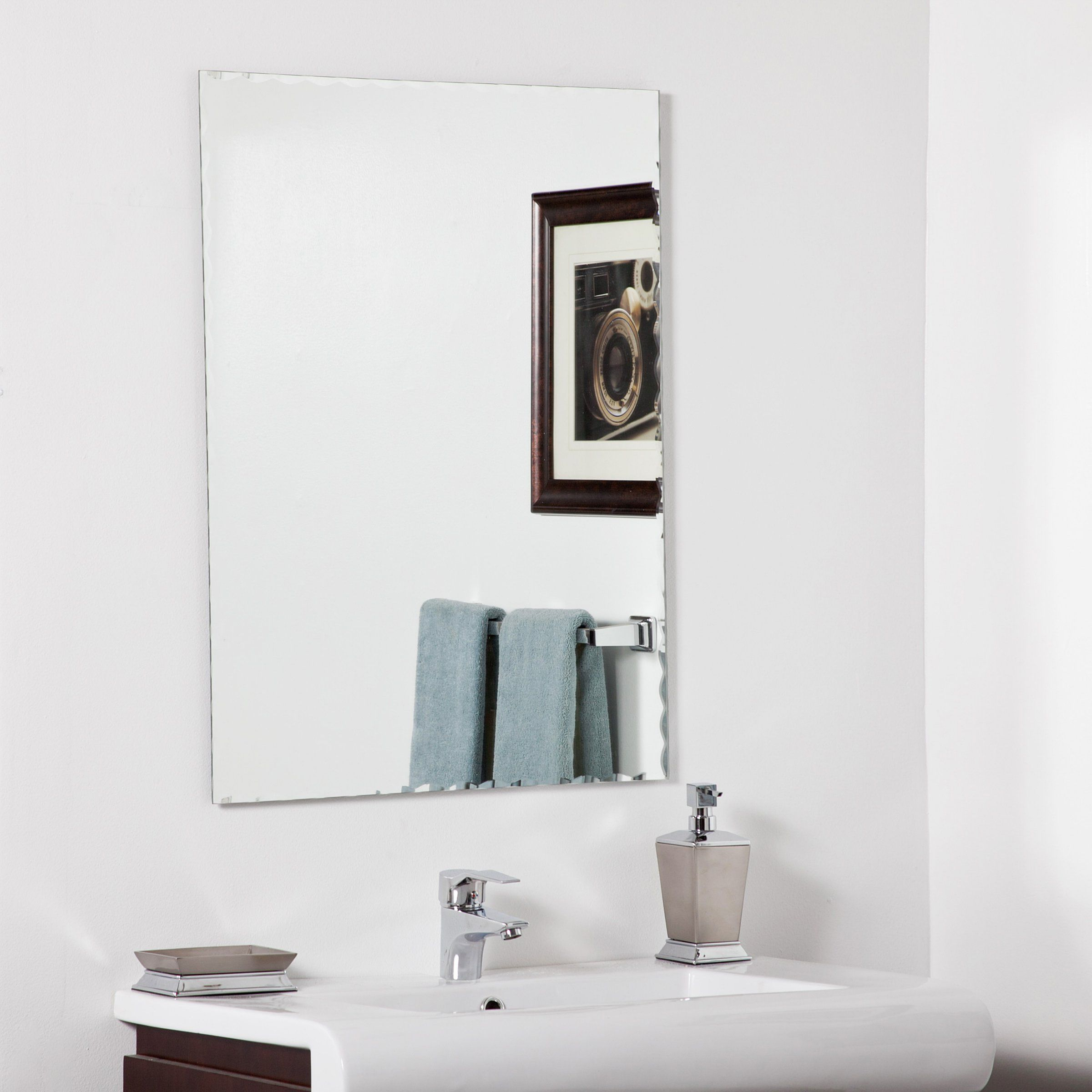 Madeline Modern Bathroom Mirror - 23.6W x 31.5H in. - Wall Mirrors ...