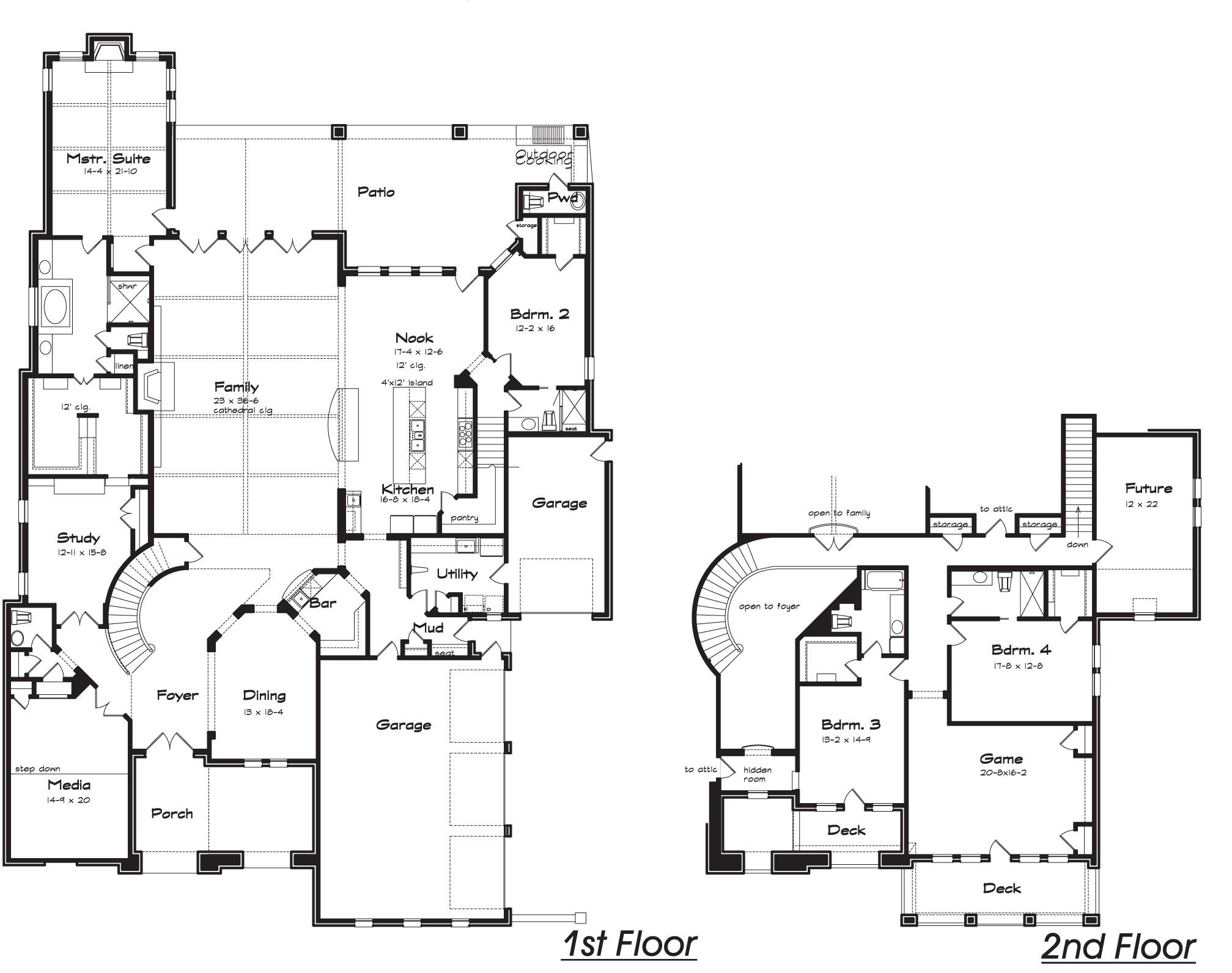 Luxury Home Plans Bedrooms Upstairs   Google Search