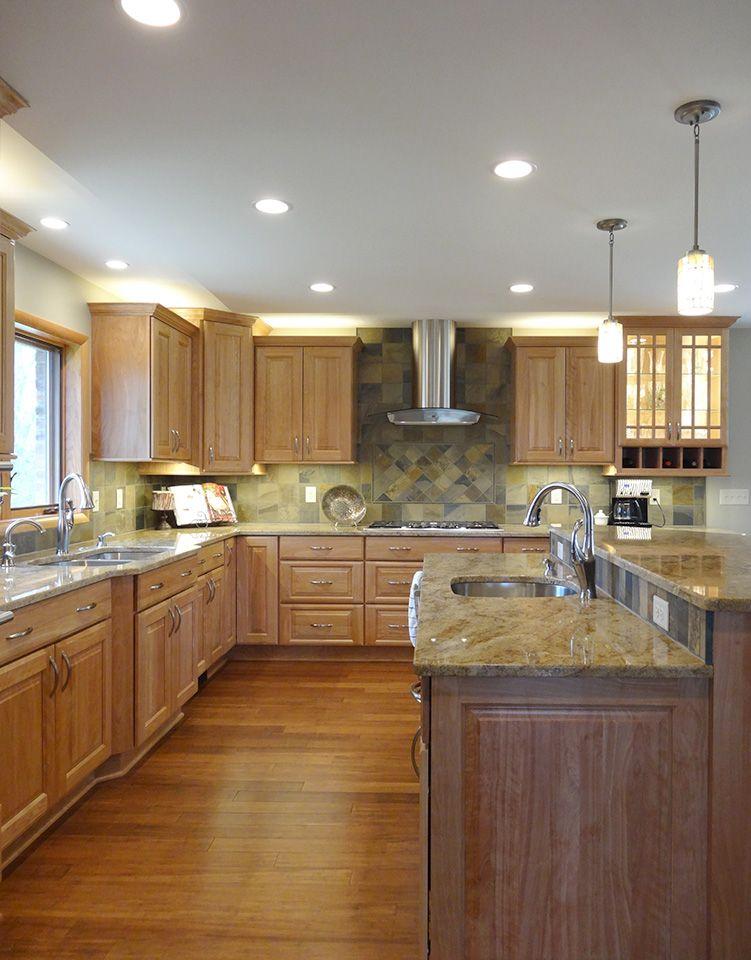 Ann Arbor Remodeling Amp Design Portfolio Lake House Kitchen Birch Cabinets