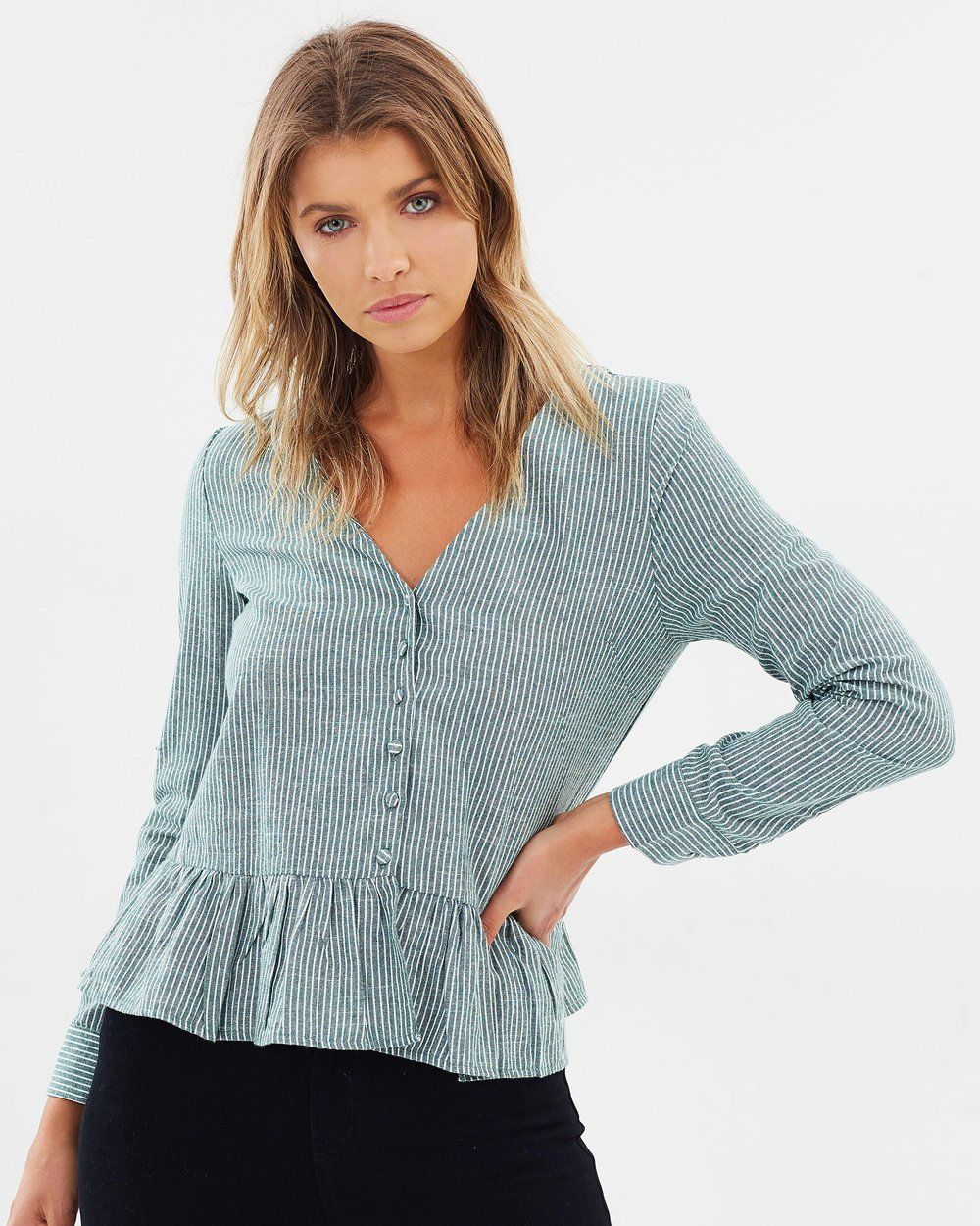 Buy ICONIC EXCLUSIVE - Loriel Button Front Top by Atmos ...