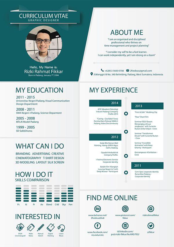 My Curriculum Vitae On Behance Cv Kreatif Desain Resume Desain Cv