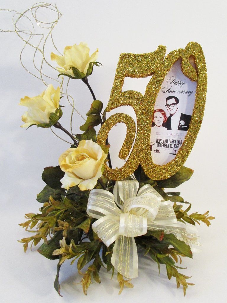 table flower arrangements for 50th wedding anniversary