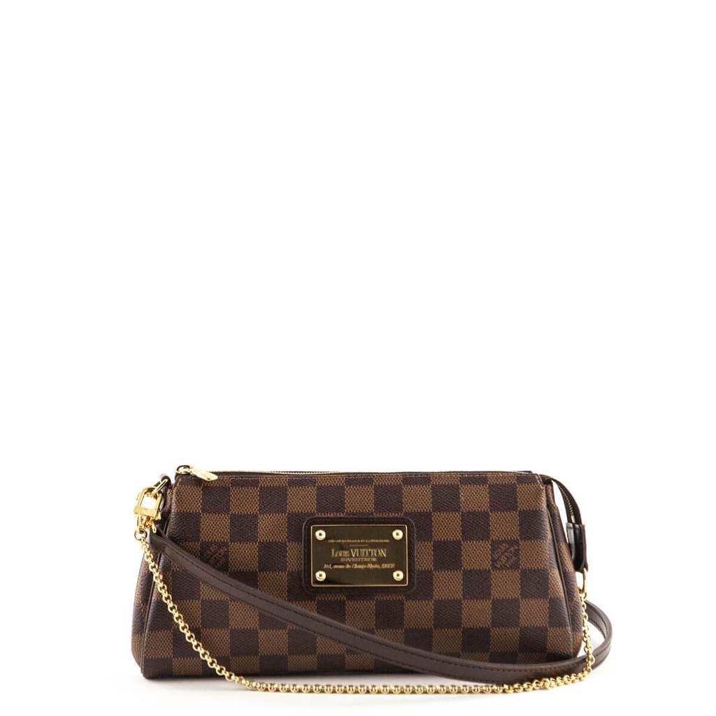 Louis Vuitton Damier Ebene Eva Clutch Love That Bag Preowned