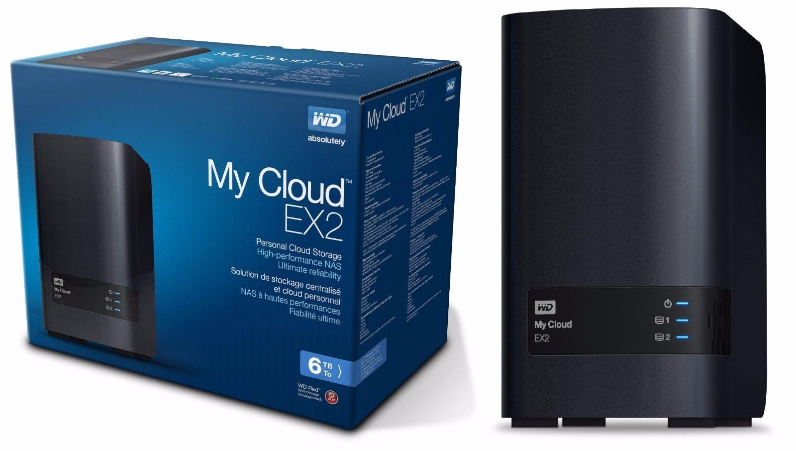 Wd 6tb My Cloud Ex2 Network Attached Storage Nas Wdbvkw0060jch Nesn 6 Tb View More On The Link Http Www Network Attached Storage Storage Packaging