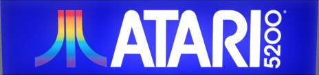 Atari 5200 Logo Atari 5200 Atari Video Games Atari