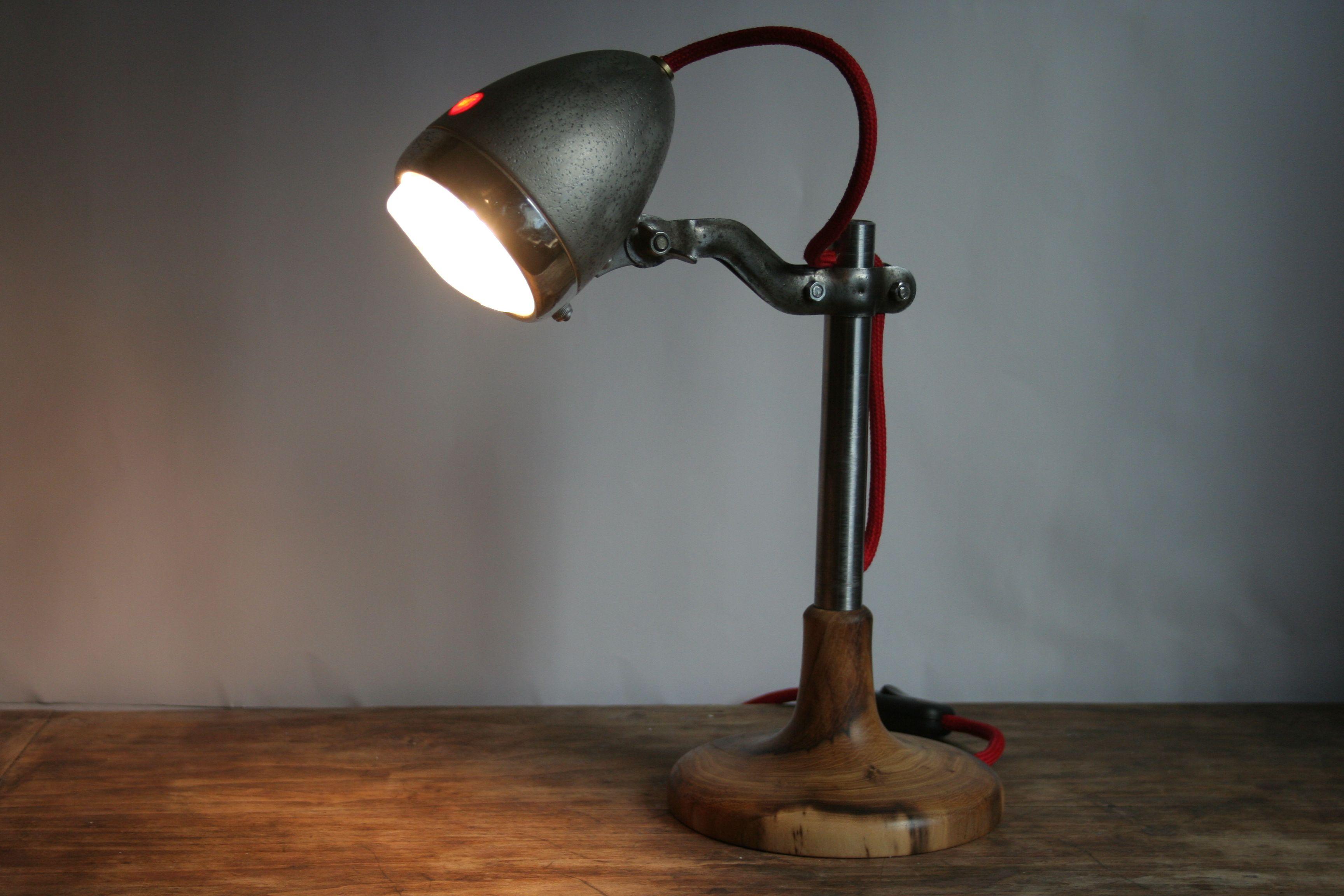 """Außergewöhnlich Coole Nachttischlampe Beste Wahl """"light Rider"""" Mit Altem Fahrradscheinwerfer."""