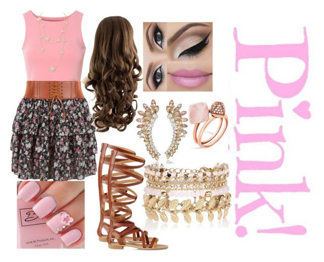 """""""pink!!"""" by kaykay09t ❤ liked on Polyvore featuring Glamorous, Express, Michael Kors and River Island"""