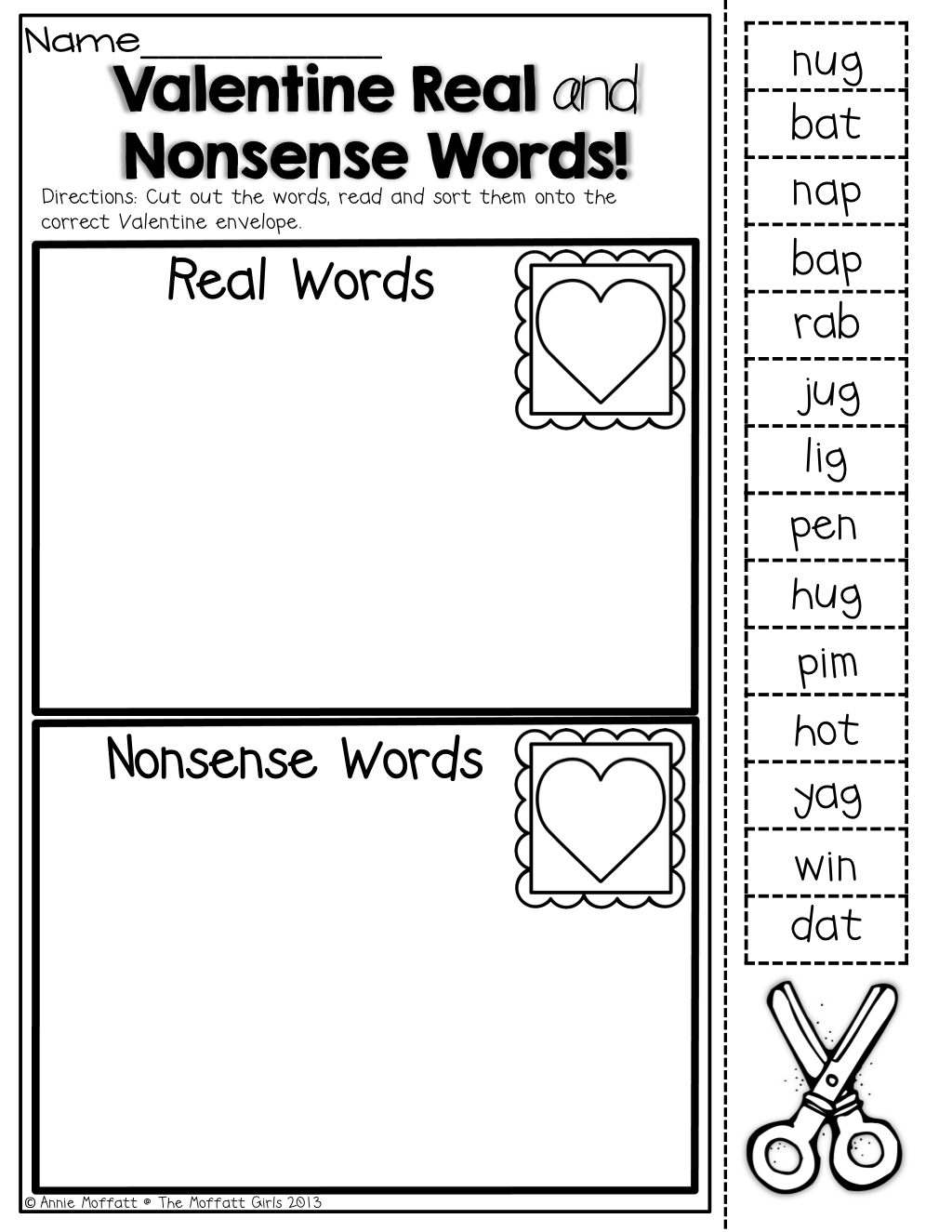 February NO PREP Packet (Kindergarten)   Nonsense words [ 1325 x 1024 Pixel ]