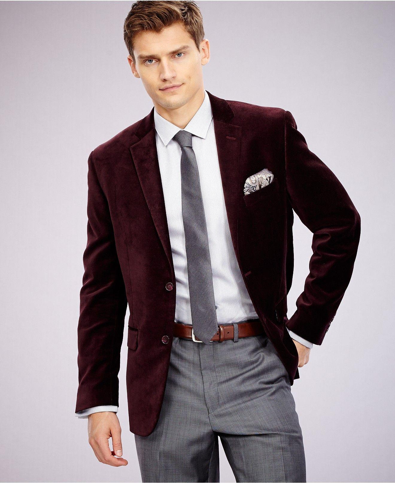 Alfani RED Slim-Fit Velvet Sport Coat - Blazers & Sport Coats ...