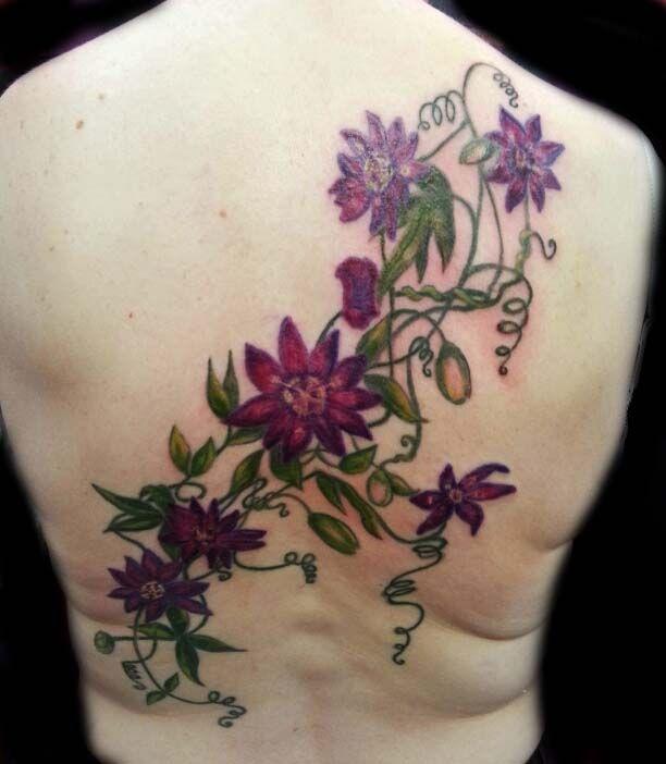 Passion Flower Tattoo View With Piclens Tatoo Tatuagem