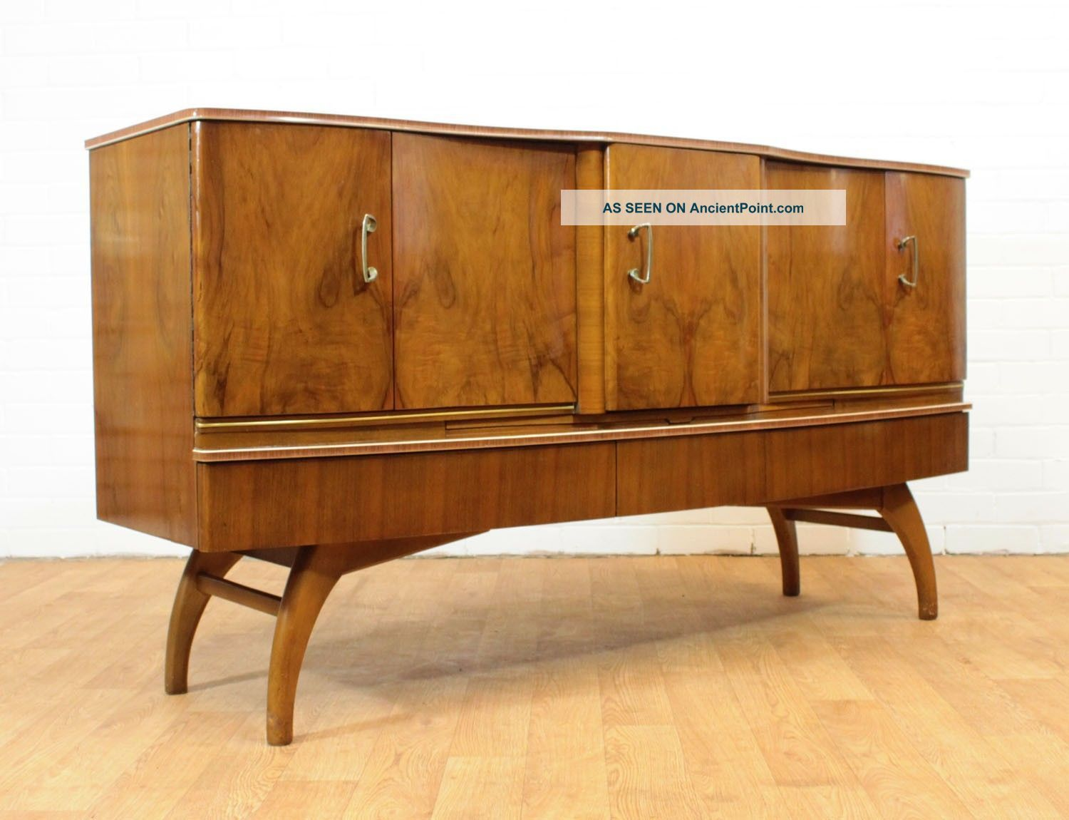 Stunning Revolving Bow Front Mid Century Drinks Cabinet/bar By ...