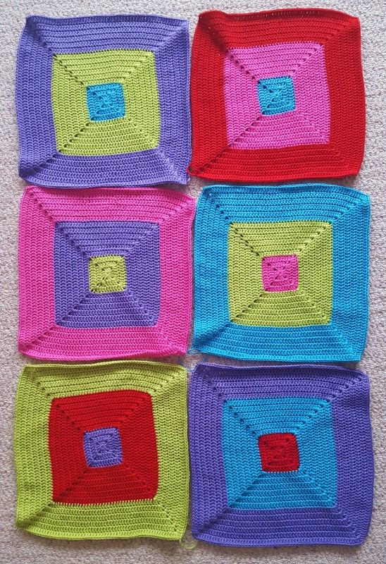 Colour Block Crochet Blanket Update Crochet