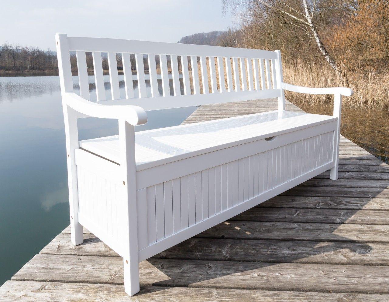 Weisse Gartenbank Holz Outdoor Outdoor Decor Furniture