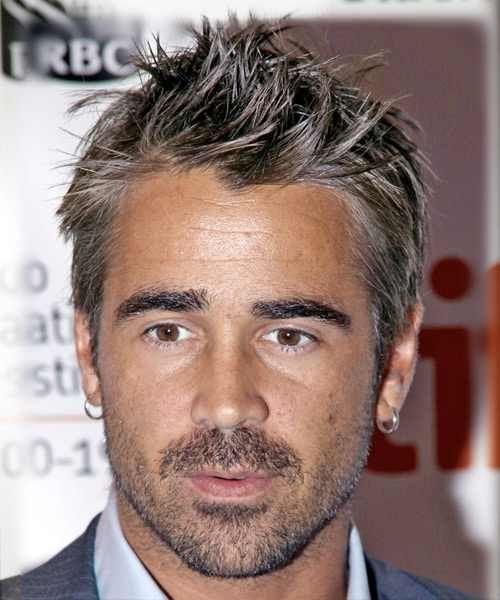 Colin Farrell Salt Pepper Hair Colin Farrell Mens Hairstyles Beautiful Men
