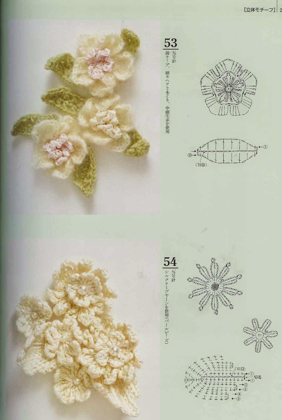 Los Tres Botones: flor | Flores tejidas | Pinterest | Ganchillo ...