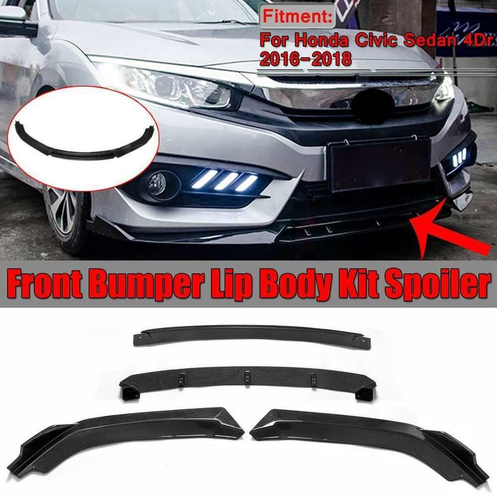 New High Quality Honda Civic Sedan 2016 2018 Front Bumper Lip Splitter Diffuser Ebay Honda Civic Honda Civic Sedan Civic Sedan