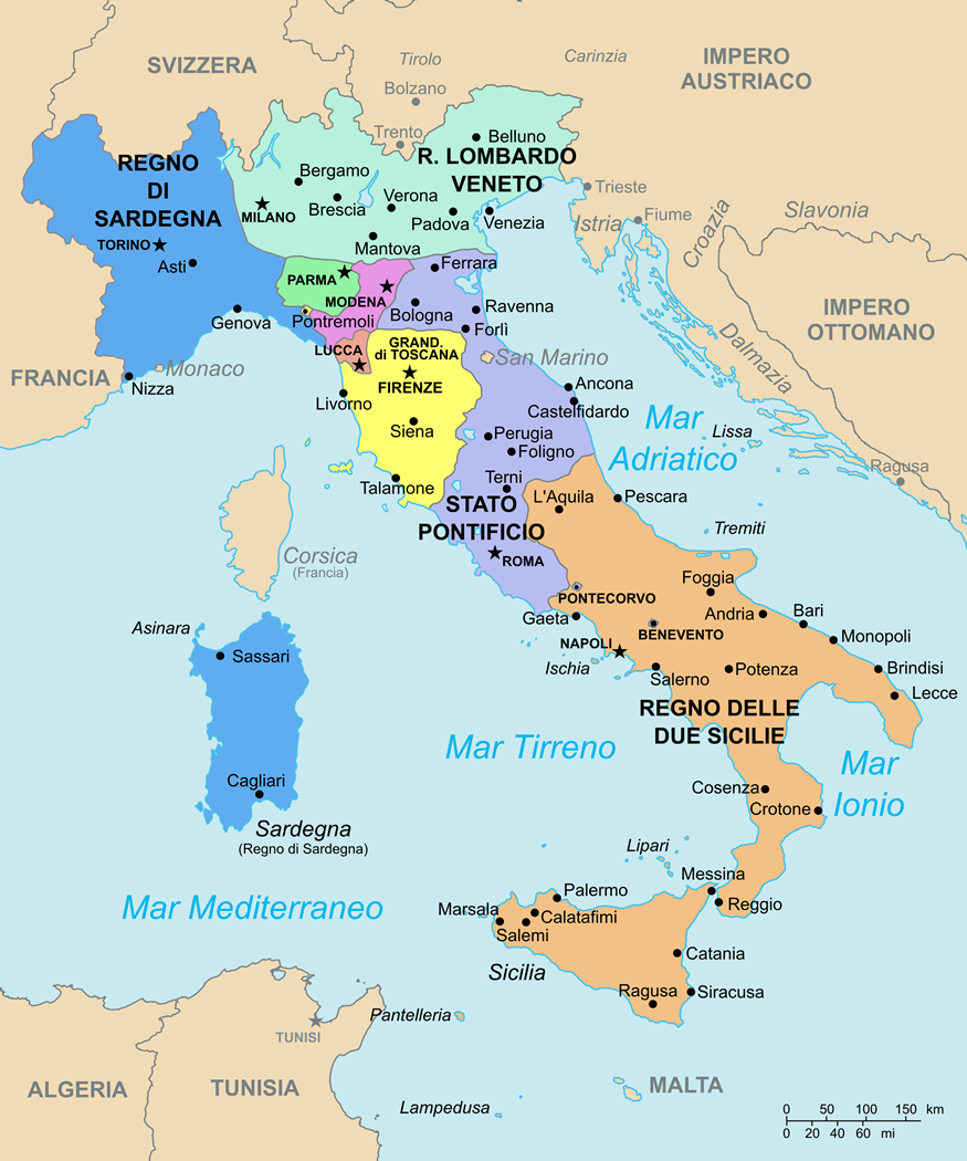 Cartina Italia Economica.Cartina Geo Politica Dell Italia Nel 1843 Mappa Dell Italia Mappe Antiche Viaggio Nel Tempo