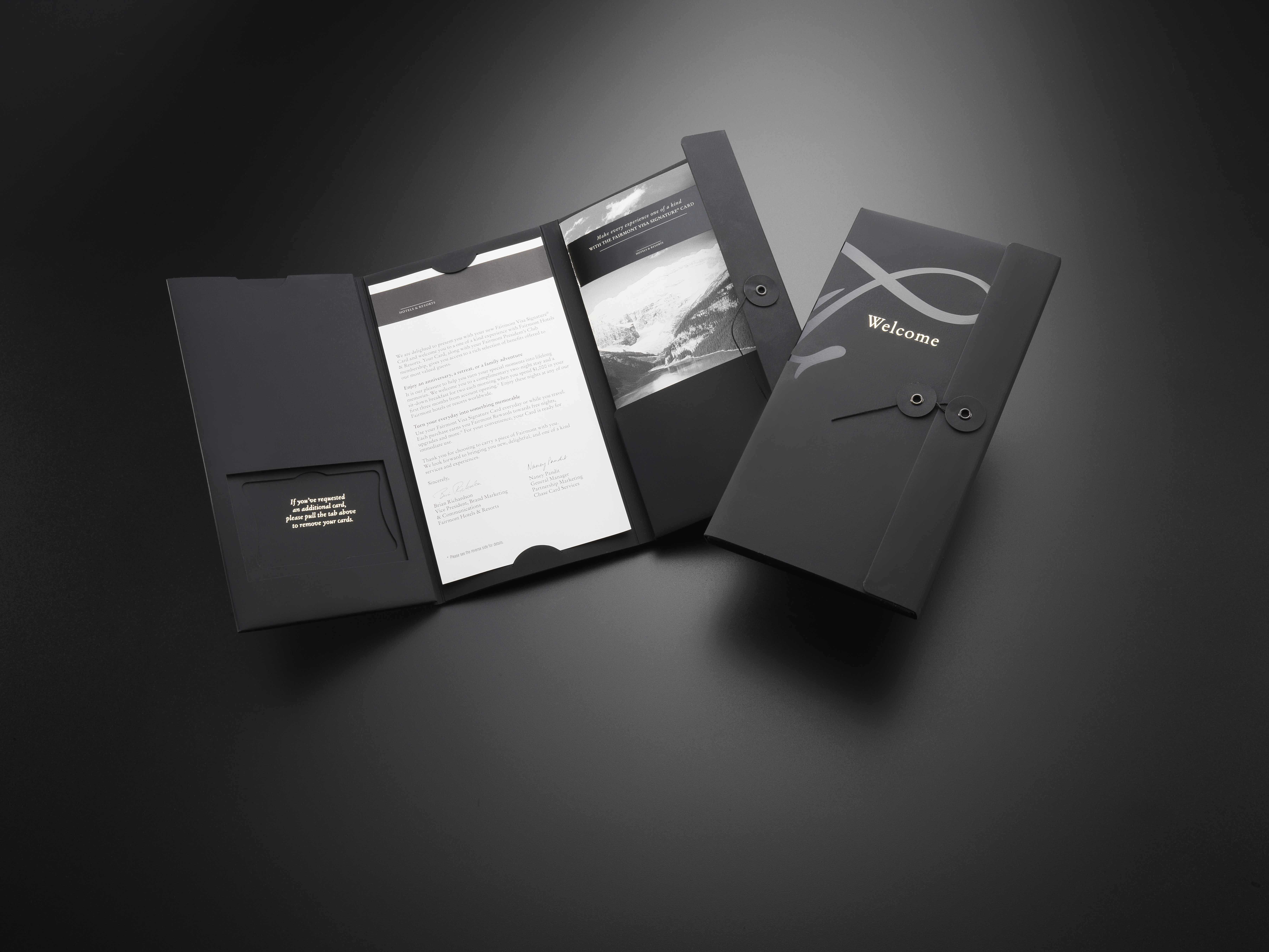 Luxury Welcome Kit With Sof Ttouch And Spot Gloss Varnish Efftct Mailer Design Luxury Brochure Vip Card