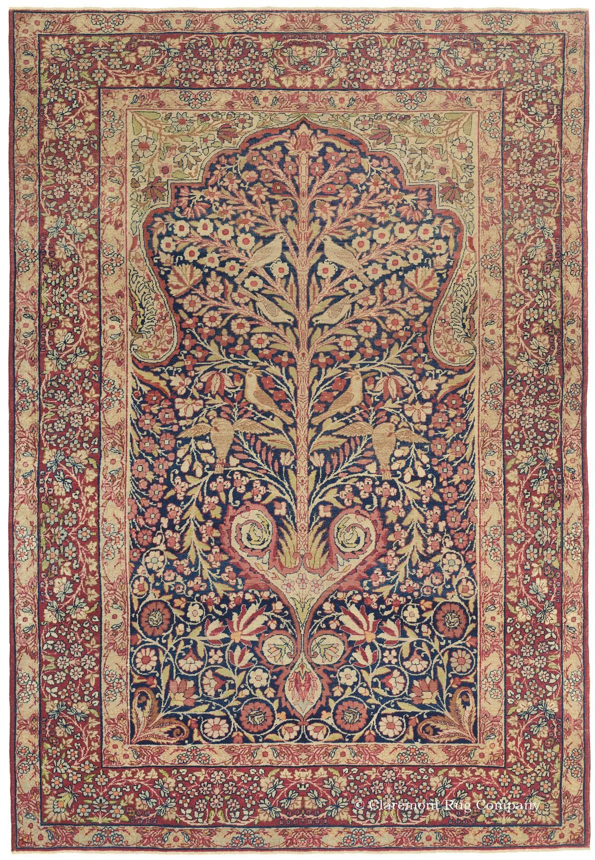 Antique Oriental Carpet Laver Kirman Persian Carpet Antique Persian Carpet Antique Persian Rug