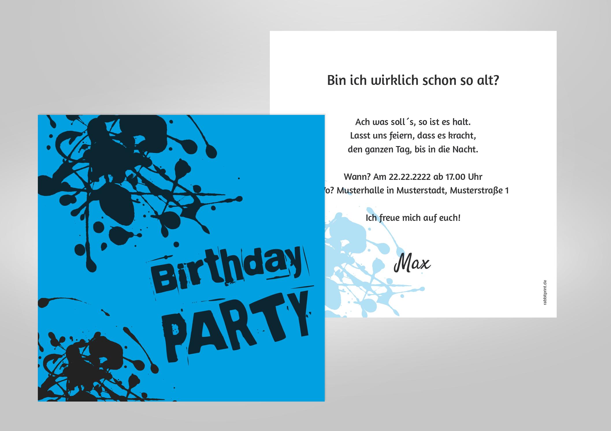 Einladung Geburtstags Party Rockig Fetzig Ideen Zum Geburtstag