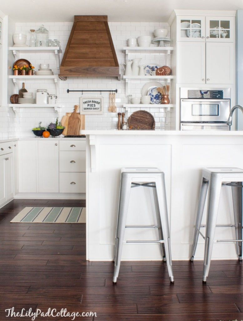 Eclectically Fall Home Tour Fall Kitchen Decor White Cottage