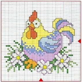 chicken cross stitch