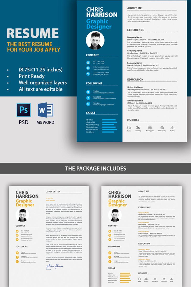 Graphic designer resume template 71688 graphic design