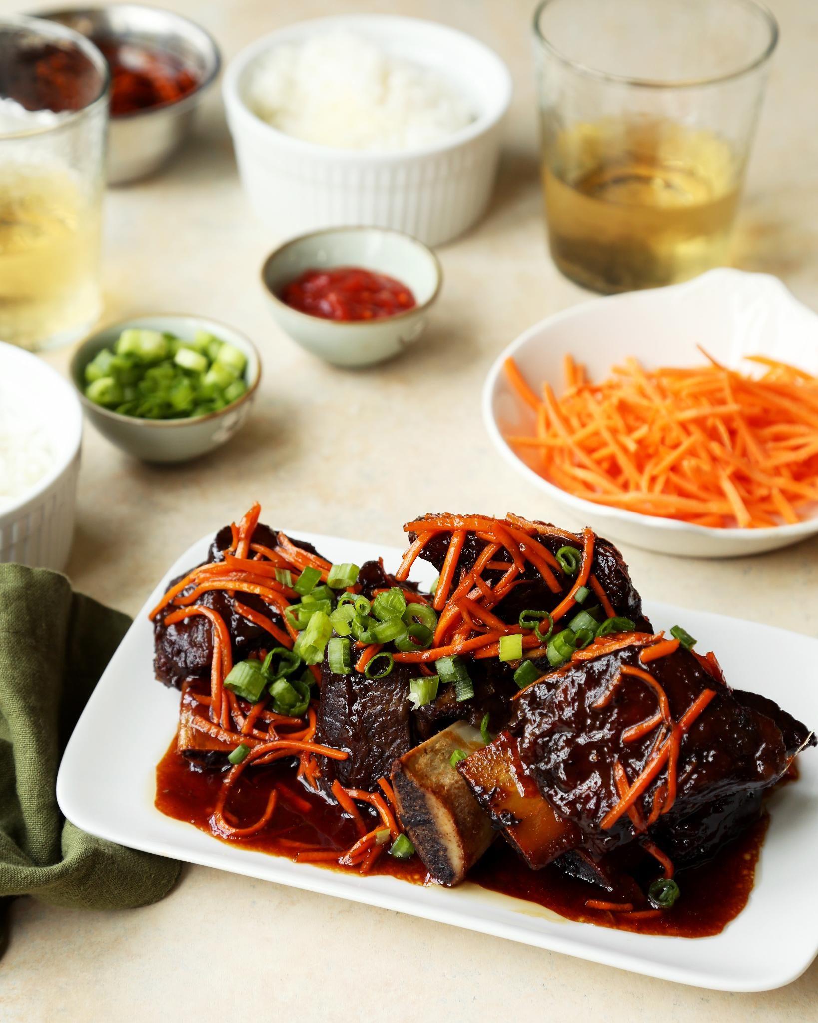 Korean Style Short Ribs Crock Pot Recipe Food Com Recipe Short Ribs Crock Pot Recipes Crockpot Ribs