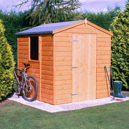 Sol 72 Outdoor 5 Ft W X 7 Ft D Shiplap Apex Wooden Shed Shed Shiplap Cladding Wooden Sheds