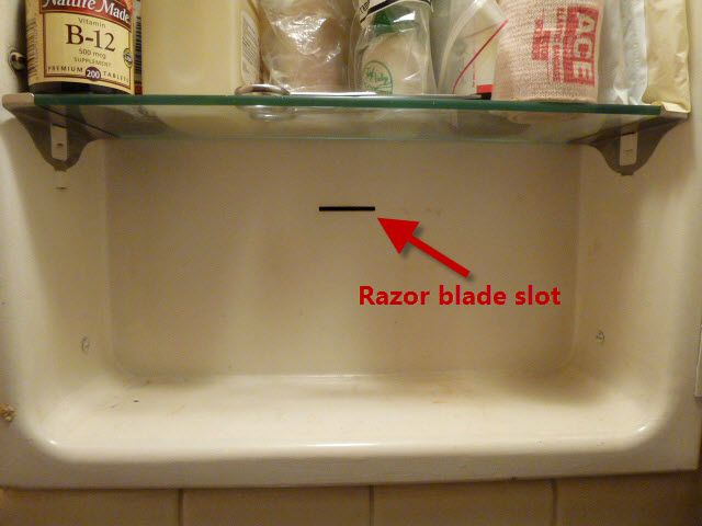 Razor Blade Slot In Medicine Cabinet There Was One In