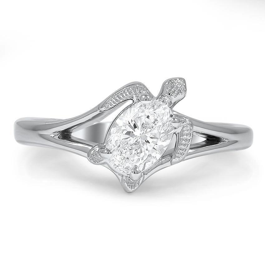 Turtle Inspired Diamond Ring Top View Diamonds Jewels To