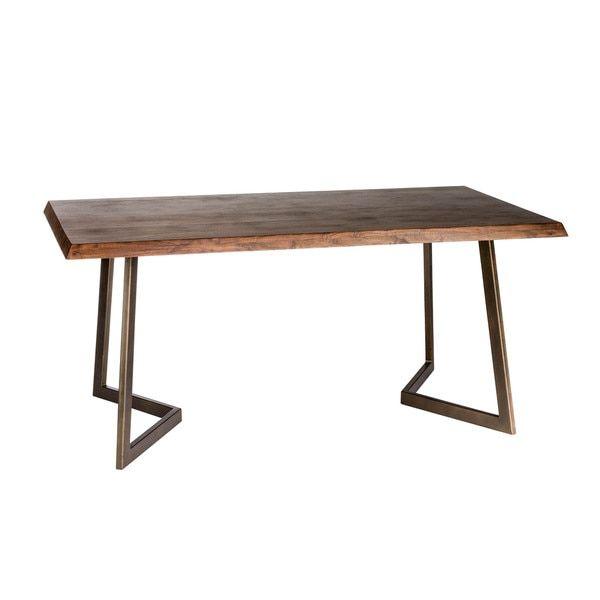 Aurelle Home Rustic Solid Rectangular Dining Table  Decor Enchanting Small Rectangular Kitchen Table Design Decoration