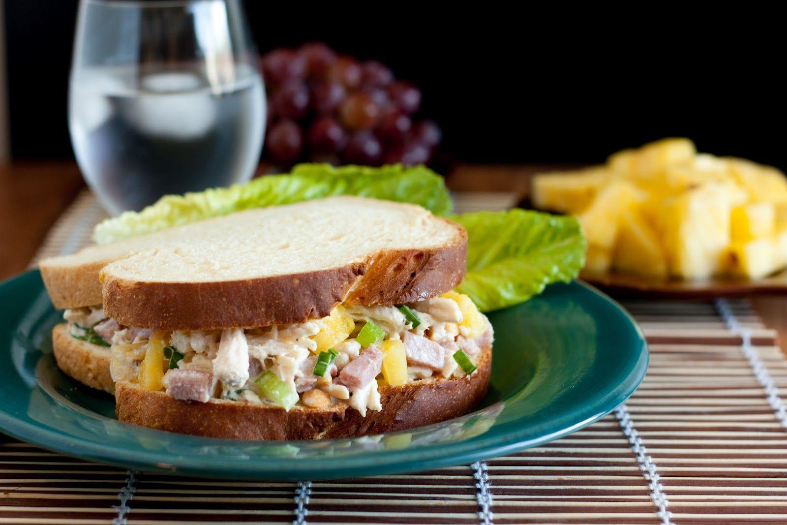 Cooking Classy: Hawaiian Chicken Salad Sandwiches