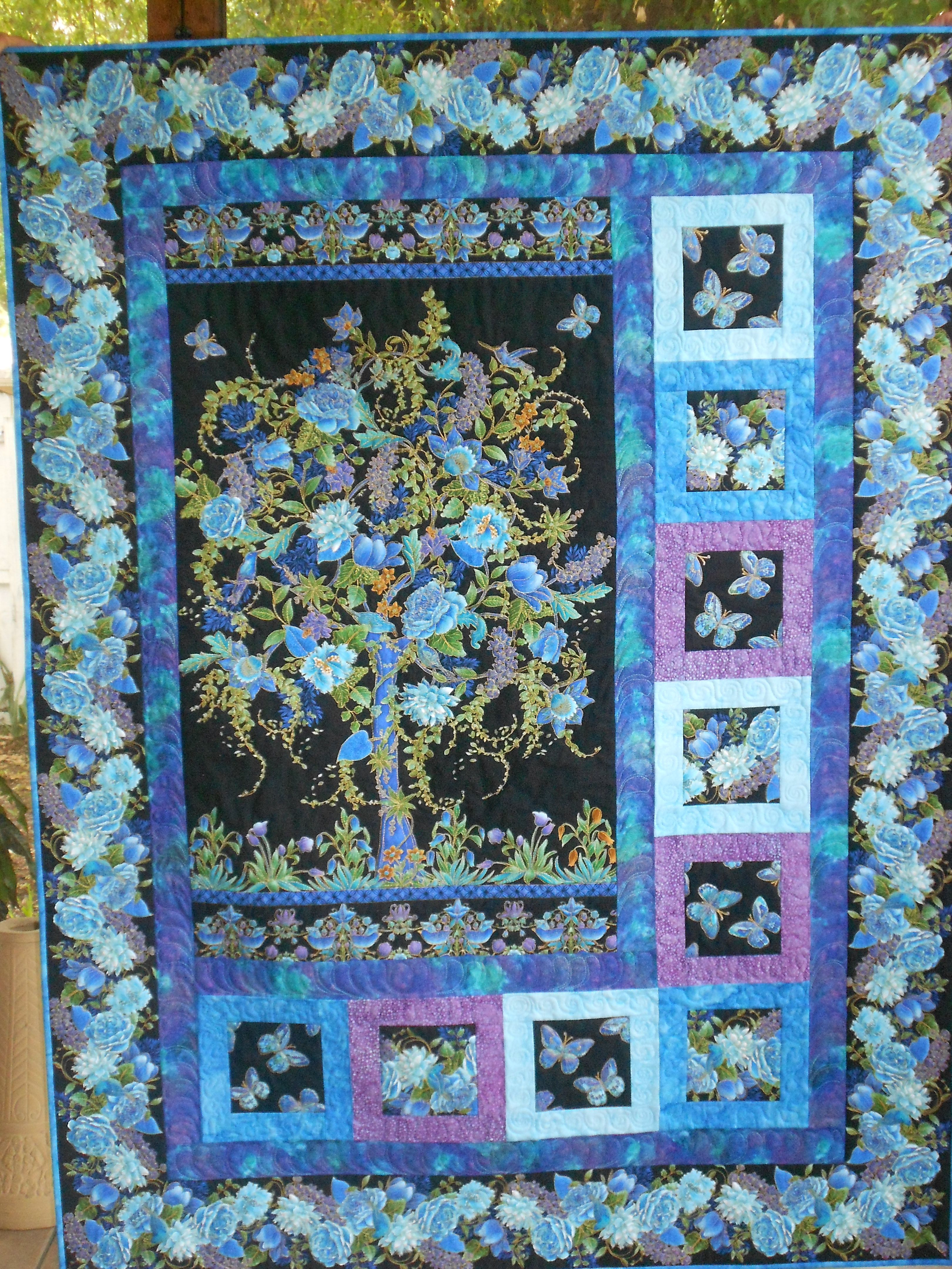 Tt Tree Of Life Panel Quilt Pieced And Quilted By Maker
