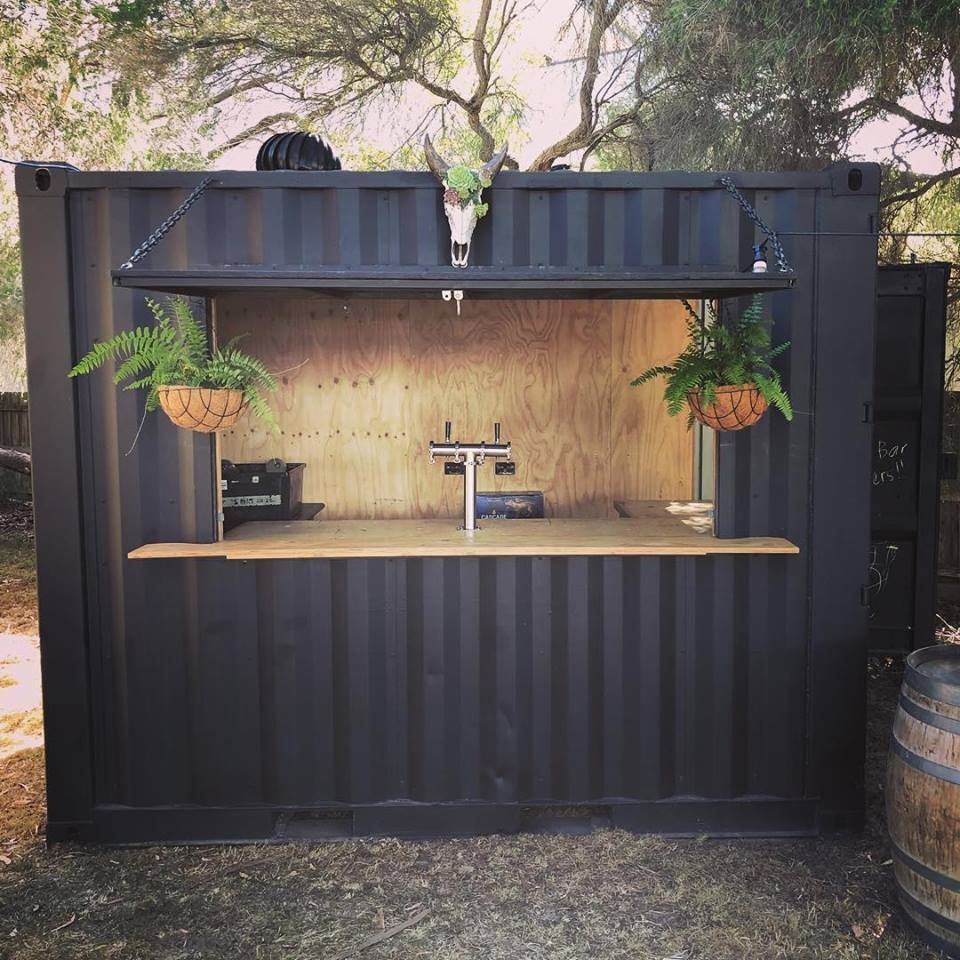 How Cool Is This Container Bar Available To Hire For Your Event The Perfect Accessory To A Boho Marquee We Container Bar Container Cafe Container Restaurant