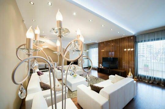 Indirekte Deckenbeleuchtung Wohnzimmer mit Led Strips indirekte