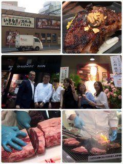 8月2日11時いきなりステーキ小倉魚町店がオープンします( ω )  昨日はレセプションに行って来ました 300gのお肉と赤ワインを美味しく頂いて来ました  皆様もぜひぜひ食べに行かれて下さいませ  #いきなりステーキ #小倉魚町店 #小倉 #魚町商店街 #ステーキ #一人ステーキ #肉  tags[福岡県]