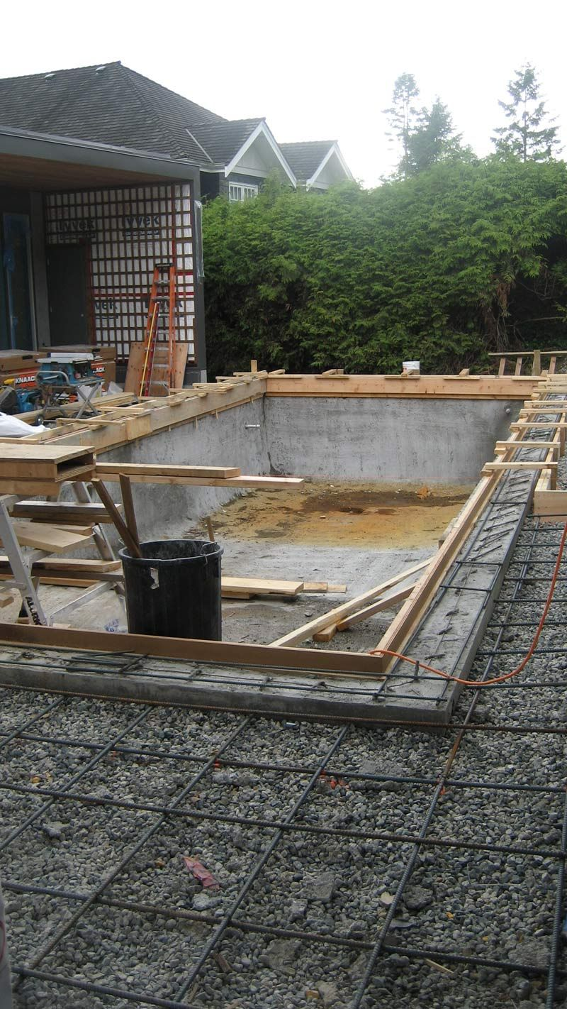 Infinity Pool Komplettset Concrete Pool Formwork For Second Pour Around Pool Adges