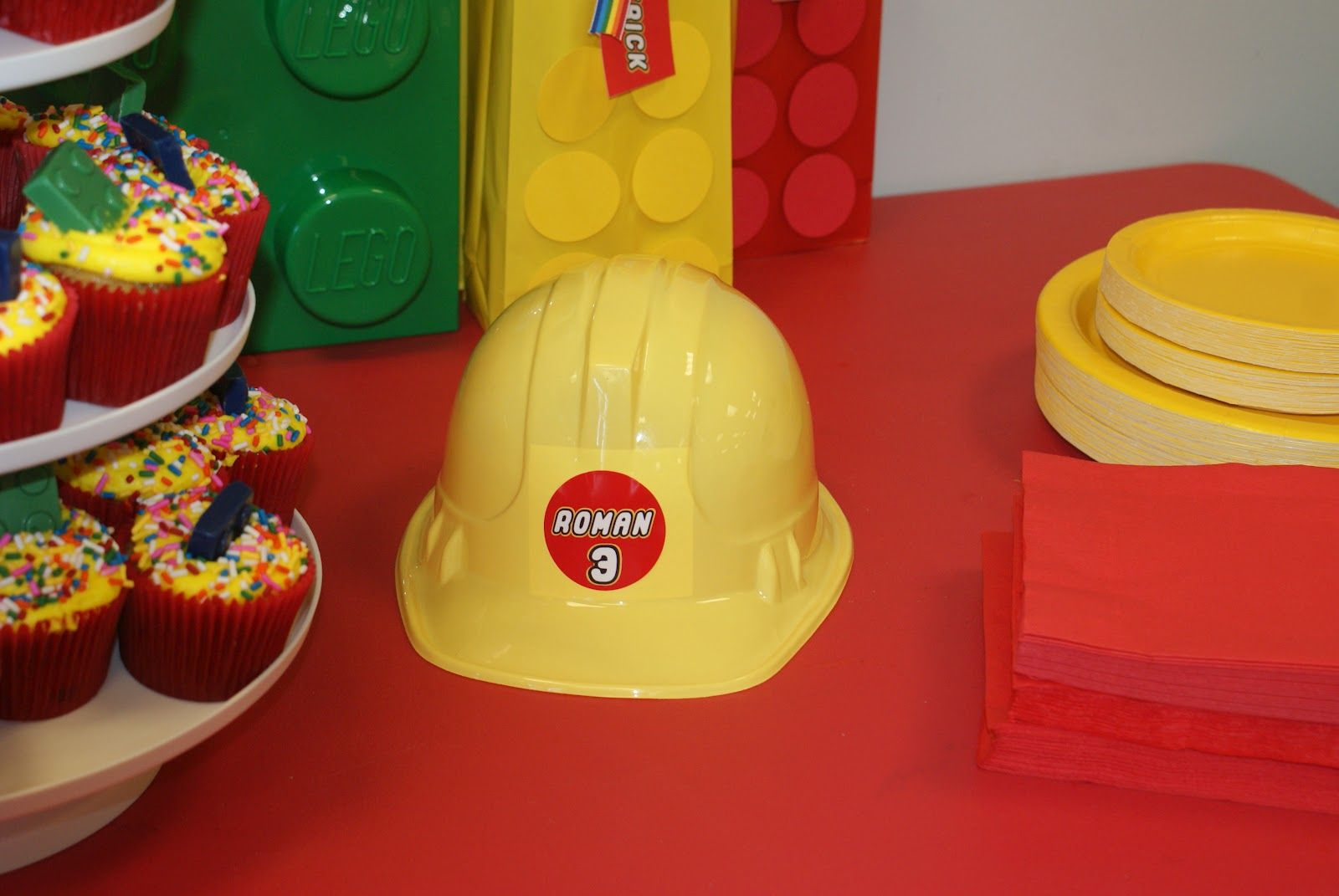 Lego Movie Construction Hats For The Kids Hat Kid Party Favors