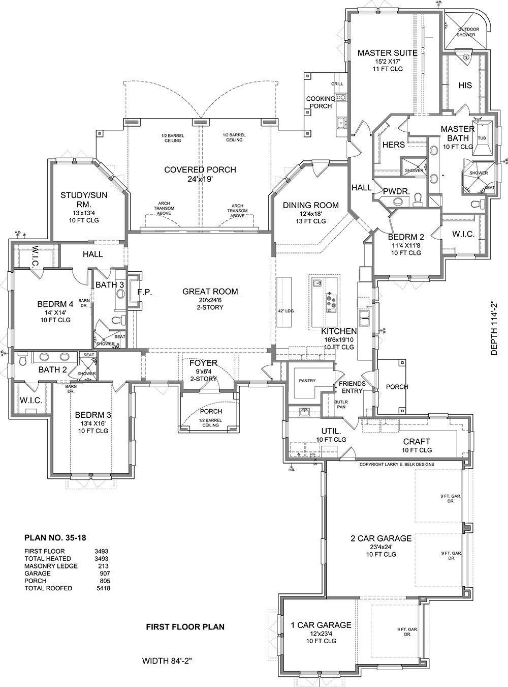 First Floor Plan image of Butterfly | House plans, Barn ...