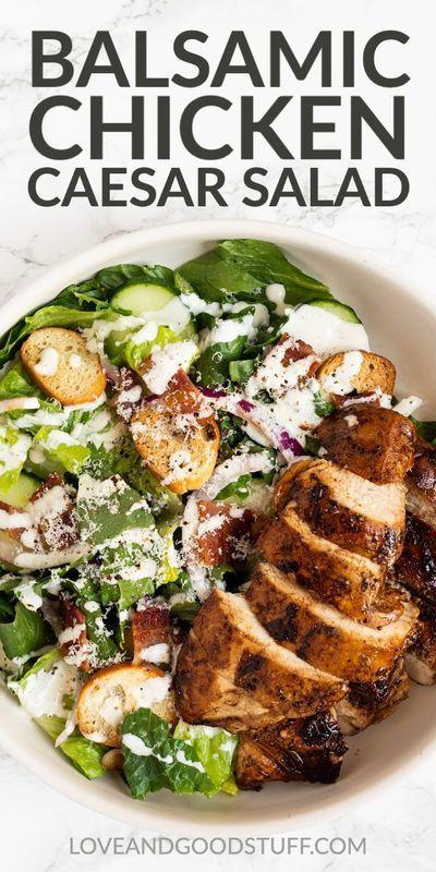 Balsamic Chicken Caesar Salad