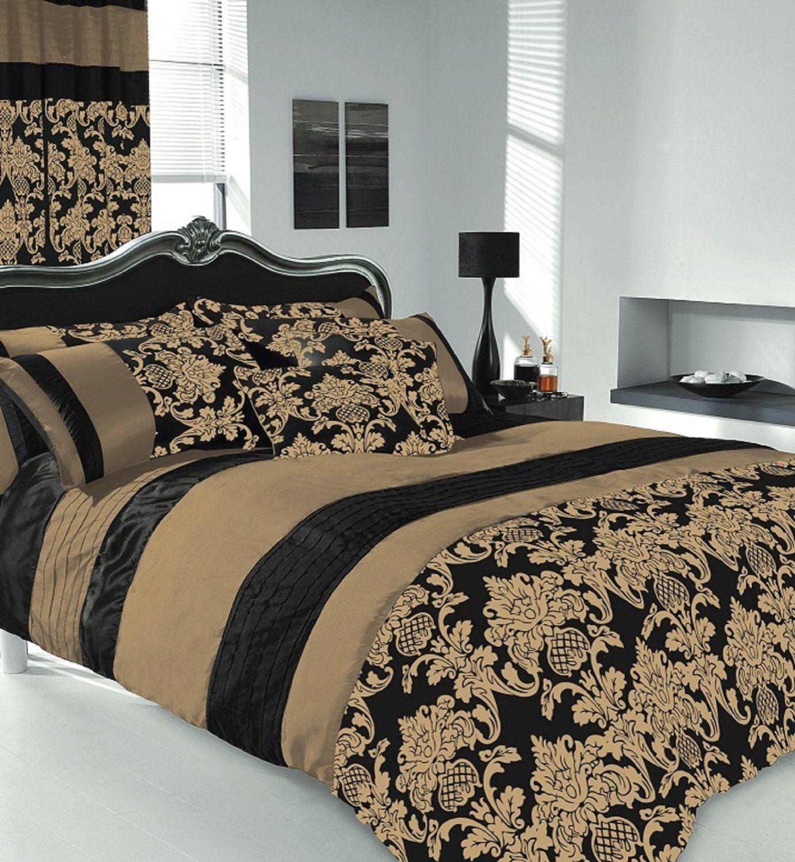 apachi king size duvet cover bedding set black gold kitchen home bedroom. Black Bedroom Furniture Sets. Home Design Ideas