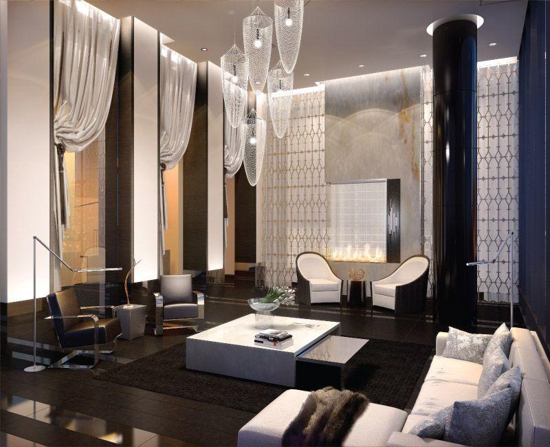 small luxury condo lobby Google Search Hospitality Interior