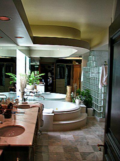 "Homework Remodels~Tri-Lite Builders Spanish Revival Hacienda Master Bath Retreat -- ""Before"" Art Deco-style bathroom"