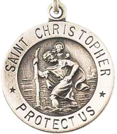 I chose this image of a saint christopher medal because the killer i chose this image of a saint christopher medal because the killer left one of these aloadofball Images