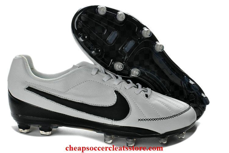 innovative design 65f6f 4efad Nike Tiempo Legend V FG Cleats For Cheap White Black Soccer Cleats