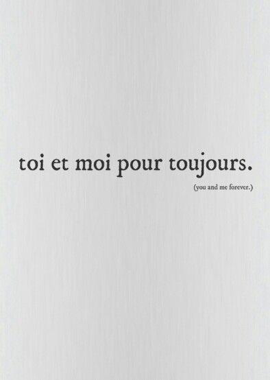 You And Me Forever Cytaty Francuskie Słowa Język