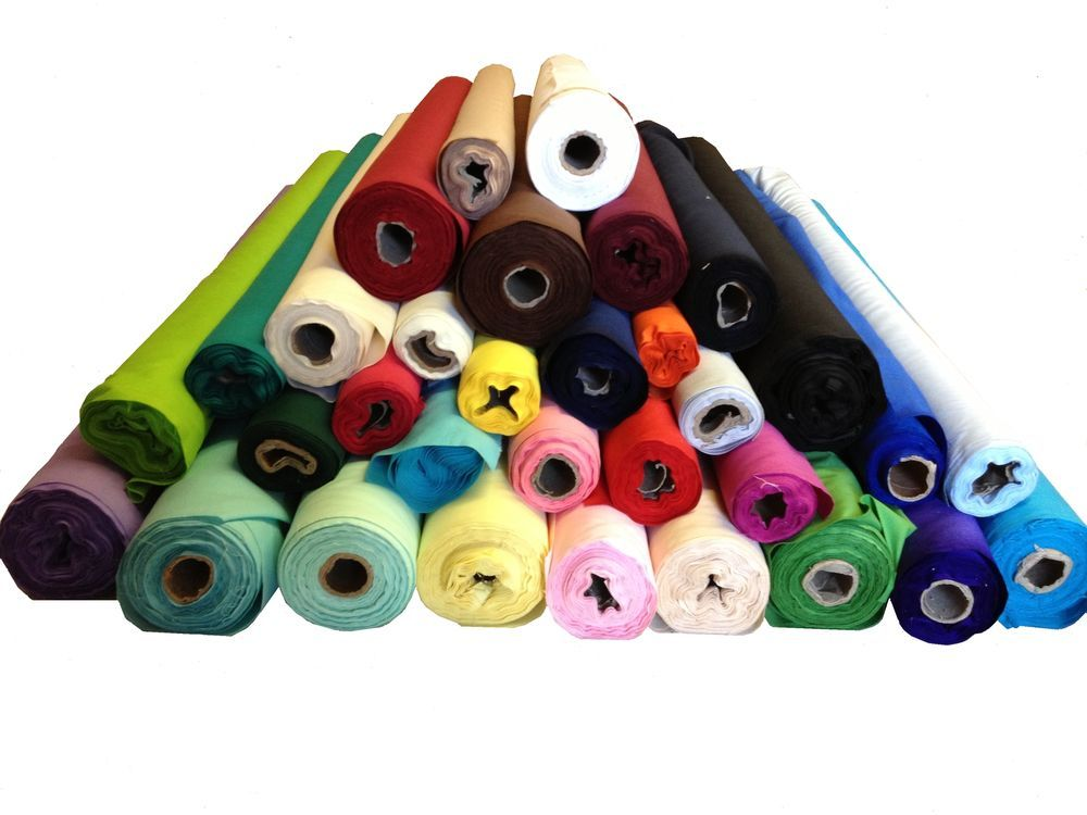 Plain Coloured Polycotton Craft Fabric in 46 colours per metre Lowest Price !!!