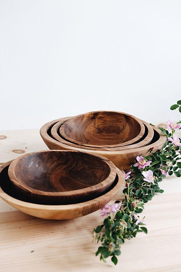Connected Goods Hand Carved Olive Wood Serving Bowl в 2019 г